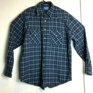 Pendleton Plaid Virgin Wool Flannel Shirt